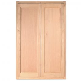 "Wall 24"" x 42"" Unfinished Alder Kitchen Cabinet"