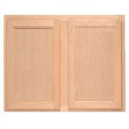 "Bridge Wall 30"" x 24"" Unfinished Alder Kitchen Cabinet"