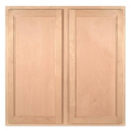 "Wall 30"" x 30"" Unfinished Alder Kitchen Cabinet"