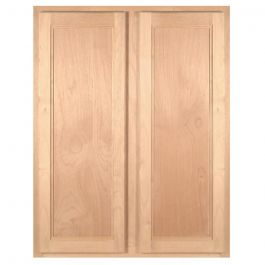 "Wall 33"" x 42"" Unfinished Alder Kitchen Cabinet"
