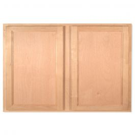 "Bridge Wall 36"" x 24"" Unfinished Alder Kitchen Cabinet"