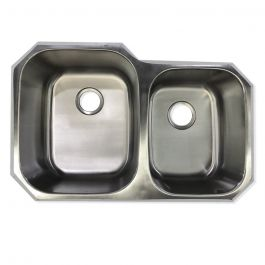 10916 Stainless Steel 60/40 16 Gauge Undermount Sink