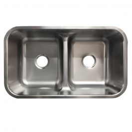 B1221 Low Divide 50/50 Stainless Steel 18 Gauge Undermount Sink