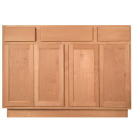 "Unfinished Alder Vanity 48"" w/ 2 Drawers"