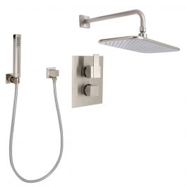 Huntington Brass Razo Thermostatic Shower Package - Satin Nickel