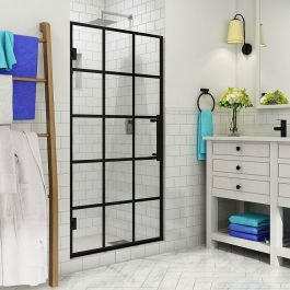 "34"" Mayenne Frameless French-Style Hinged Single Panel Shower Door"