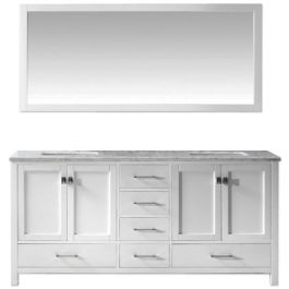 "Carina 72"" White Double Vanity"
