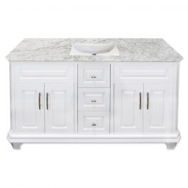 "Konnor 60"" White Vanity"