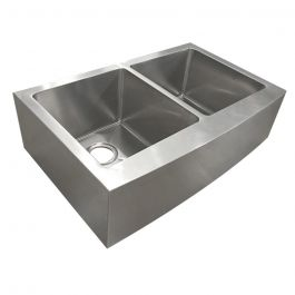 ZS-FH06 Farmhouse 60/40 Undermount Stainless Steel Sink