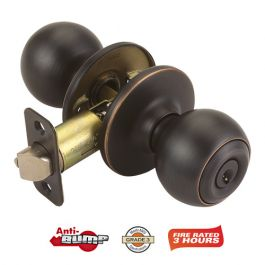 Design House Ball Exterior Handleset - Oil Rubbed Bronze