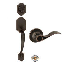 Design House Sussex Entry Handleset w/Springdale Lever - Oil Rubbed Bronze