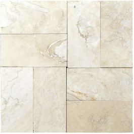 """Classic Torreon 3"""" x 6"""" Filled & Honed Travertine Mosaic Tile"""
