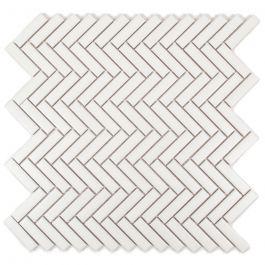 Herringbone Cascade Porcelain Mosaic Tile