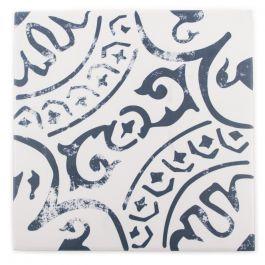 """Indigo Encaustic 8"""" x 8"""" Mosaic Tile"""