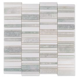 Mixed White Sage Natural Stone Mosaic Tile