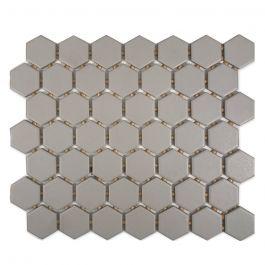"Starting Line Gray Hexagon Mosaic Ceramic Wall Tile 10"" x 12"""