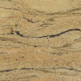 "Prada Gold 110"" Prefabricated Granite Kitchen Countertop"