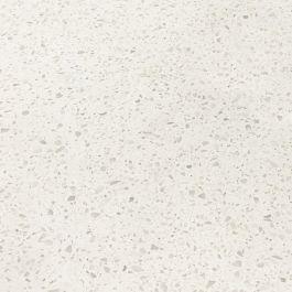 "Sparkling White 110"" Prefabricated Quartz Kitchen Countertop"