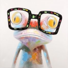 Hipster Froggy I Acrylic Painting