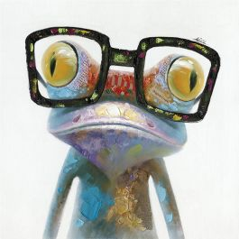 Hipster Froggy II Acrylic Painting