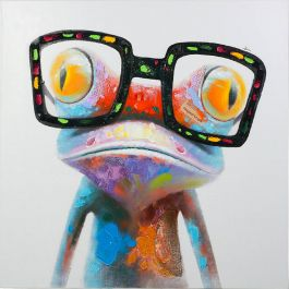Hipster Froggy Acrylic Painting