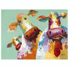 Curious Cows Acrylic Painting