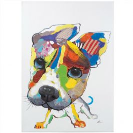 Playful Pooch Acrylic Painting