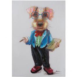 Professor Dog Acrylic Painting