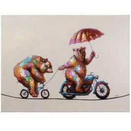 Bears Having Fun Acrylic Painting