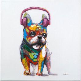 Dog Beats II Acrylic Painting