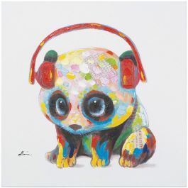 Panda Beats Acrylic Painting