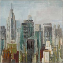 City Shapes Acrylic Painting