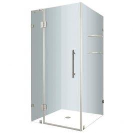 SEN992 Stainless Steel Frameless Shower Enclosure w/ Shelves