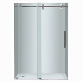 "48"" Chrome Frameless Sliding Shower Door"