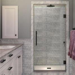 """SDR997 Kinkade 32"""" Frameless Hinged Shower Door - Oil Rubbed Bronze"""