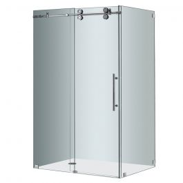 "48"" Chrome Frameless Sliding Shower Enclosure"