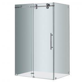 """48"""" Chrome Frameless Sliding Shower Enclosure"""