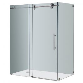 "60"" Chrome Sliding Shower Enclosure"