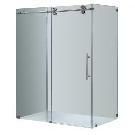 """60"""" Stainless Steel Sliding Shower Door"""