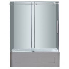 "60"" Stainless Steel Frameless Slider Tub Door"