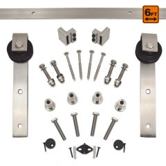 Barn Door Hardware 1000 Series (6 ft) - Satin Nickel