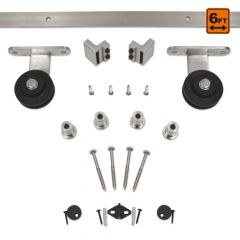 Barn Door Hardware 3000 Series (6 ft) - Satin Nickel