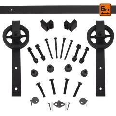 Barn Door Hardware 5000 Series Kit (6 ft) - Black
