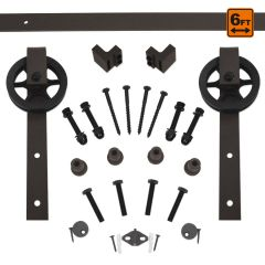 Barn Door Hardware 5000 Series Kit (6 ft) - Bronze