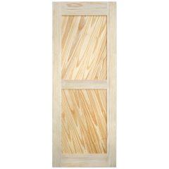 """Barn Door - Diagonal Plank - Pine - 32"""" x 84"""""""