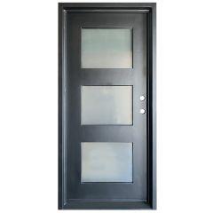 Cadiz Wrought Iron Entry Door Left Swing 3068