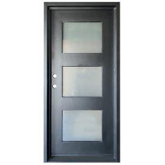 Cadiz Wrought Iron Entry Door Right Swing 3068
