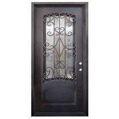 Cortez Wrought Iron Entry Door Left Swing 3068