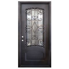 Cortez Wrought Iron Entry Door Right Swing 3068