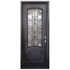 Cortez Wrought Iron Entry Door Left Swing 3080